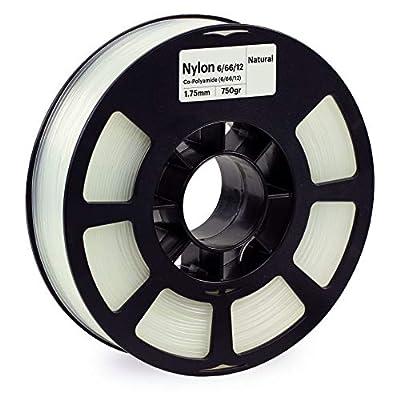 KODAK NYLON 6/66/12 Filament 1.75mm for 3D Printer, Natural Nylon, Dimensional Accuracy +/- 0.03mm, 750g Spool (1.7lbs), 1.75 Nylon Filament used as 3D Filament Consumables to refill most FDM Printers