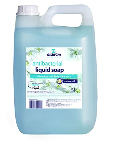 DiskPAX handzeep - antibacteriële vloeibare zeep (5000ml / 5L) zeepdispenser-navulbus