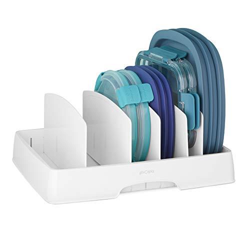 YouCopia 50235 Storalid Deckel Organizer mit hohen Trennwänden, Kunststoff, weiß