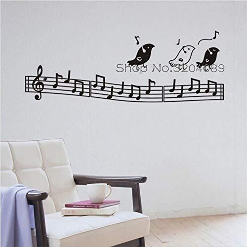 Shentop Pájaro y música calcomanía de Pared Arte Palabra calcomanía de Cama Vinilo decoración del hogar Sala de Estar Dormitorio s-Adhesivo Arte Mula