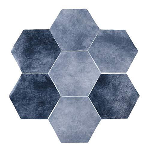 unknow Ristiege rutschfeste Bodenfliesen Aufkleber Selbstklebende Sechseck Vinyl Tapeten Aufkleber für Wohnzimmer Küche Badezimmer Home Decoration