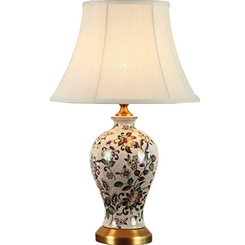 Nanyun Tafellamp, keramiek, tafellamp, handgemaakt, bedlamp, warm, kamer, antiek, tafel, kristal, messing, bedlampje, bureaulamp