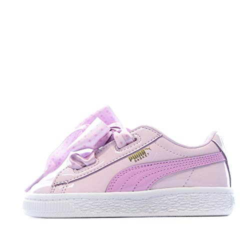 Puma Basket Heart Stars INF, Zapatillas Niños, Rosa (Winsome Orchid-Orchid-Metallic Gold), 25 EU