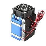 Enfriador de semiconductores de refrigeración de 12 V CC, enfriador de máquina de refrigeración de semiconductores, dispositivo de refrigeración por aire de radiador DIY(4chip)
