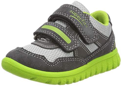 Superfit Baby Jungen SPORT7 Mini Sneaker, Grau (Grau/Grün 20), 26 EU