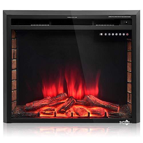 Tangkula Electric Fireplace Insert 30