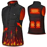 Cenow Electric vest, Washable USB Powered Heated Winter heated vest warm winter vest with 3 Levels Adjustable Temperature.