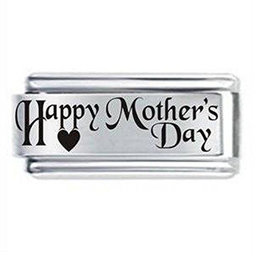 Mothers Day Superlink Italian Charm for Bracelet, Compatible with all 9mm Italian Style Charm Bracelets