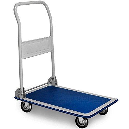 Carretilla de plataforma manual plegable carro de mano hasta 150kg