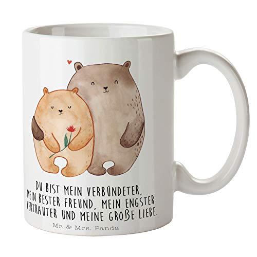 Mr. & Mrs. Panda Teetasse, Tee, Tasse Bären Liebe mit Spruch - Farbe Weiß