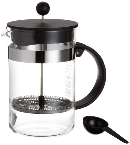 Bodum 1582-01 bistroNOUVEAU Kaffeebereiter (French Press System, Spülmaschinengeeignet), 1,5 liters schwarz