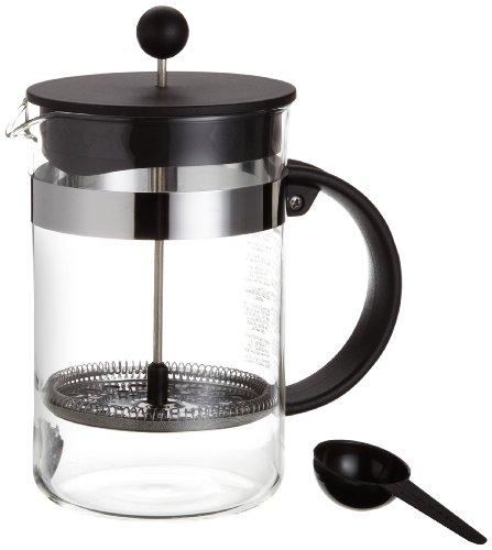 Bodum - 1582-01 - Bistro Nouveau - Cafetière à Piston 12 Tasses - 1,5 L - Noir