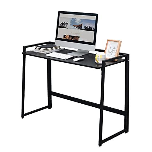 Escritorios Escritorio para computadora, mesa de oficina de 39.4 pulgadas, estación de trabajo de maquillaje de estudio simple y moderna para el hogar / oficina, plegable sin instalación ( Color : B )