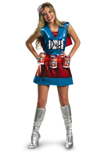 Disguise Sexy Duffwoman Fancy Dress Costume Large