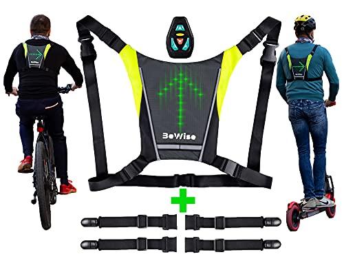 Gilet con Indicatori di Direzione a LED per Ciclismo, Frecce Super...