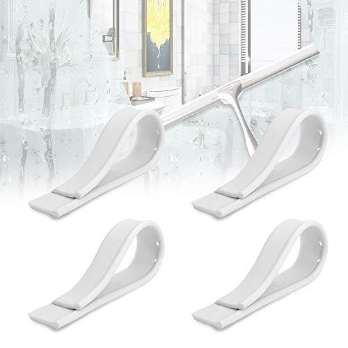 RMENOOR 4 Stücke Gummilippe Universell Ersatz Wischergummi Abziehlippe Weiß Ersatzlippe Ersatzwischergummi für Abzieher Fensterabzieher Dusche Boden (2,3 * 25,8 cm)