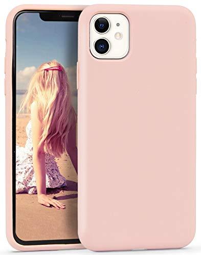 Imikoko Hülle für iPhone 11 Hülle Matt Silikon Dünn HandyHülle Stoßfest Slim Gummi Schutzhülle Kratzfest Hülle Cover (Rosegold)