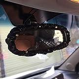 Anello decorativo per auto Auto Specchio retrovisore copertina decorativo accessori interni in pelle di cristallo posteriore dell'automobile View Mirror copertina