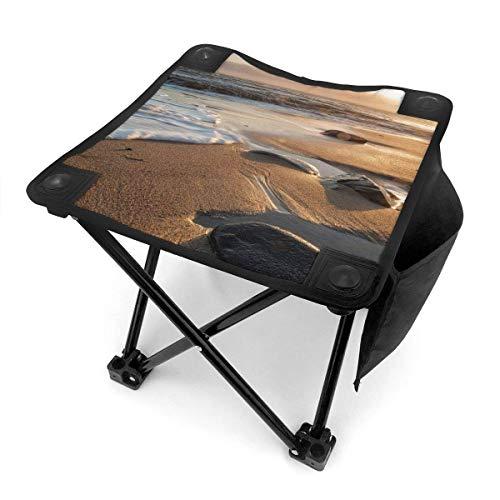 End Nazi Tabouret de Camping chaises Pliantes Sunset Beach Waves Siège de Chaise Portable