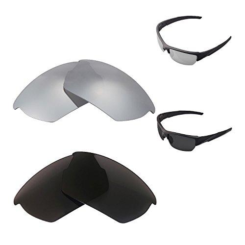 Walleva Titanium + Schwarz polarisierte Ersatzlinsen für Wiley X Valor
