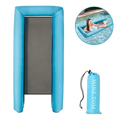Minetom Colchoneta Hinchable Piscina Colchonetas y Juguetes hinchables Portátil Flotador Inflable sofá de Agua Inflable para Adultos y niños