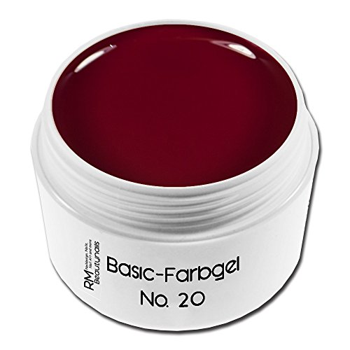 5g Farbgel - Nr. 20 Dunkelrot UV-Gel Nagelgel Rot