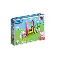 FeiYu 新しい本peppa豚フィギュアおもちゃpeppaジョージダディミイラミイラパパ家族-スイングスライドに遊園地の子供おもちゃ人形