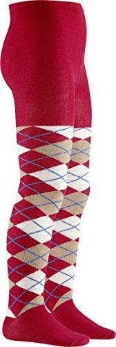 Playshoes Mädchen Karo, in verschiedenen Farben, Textiles Vertrauen nach Oeko-Tex Standard 100 Strumpfhose, Rot (Rot 8), 86 (Herstellergröße: 86/92)