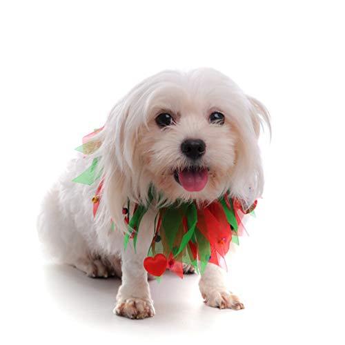 Amosfun 2Pcs Weihnachten Hundehalsband Haustier Katze Halsband Krawatten Krawatten für Kleine Hunde Hunde Katzen