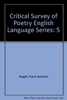 Hardcover Critical Survey of Poetry English: Authors 1847-2300 MacL-Qua (Volume 5) Book