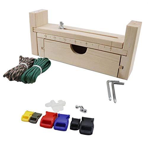 Pulsera De Paracord Fabricante De Madera Weaving Craft Fabricante De La Pulsera Ajustable Del Nudo De La Herramienta Del Arte Del Trenzado De Herramientas De Bricolaje Weaving Kit Equipo De Campamento