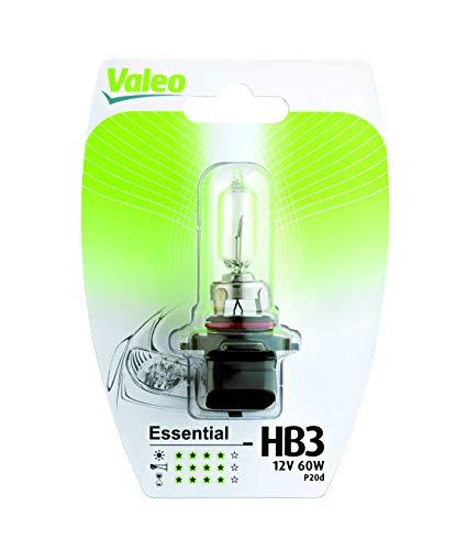VALEO Ampoules Halogène, HB3-Essential-Blister x1, 32012, Noir