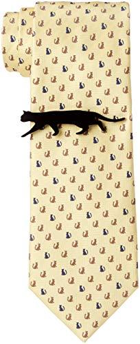 [ドレスコード101] 猫好きさん必見 ネコのネクタイとネコのタイピンの2点セット ボックス付 プレゼント ギフト メンズ おもしろ 洗える ネクタイ 可愛い ネクタイピンおしゃれ 猫 ねこ 通勤 ビジネス ネクタイ&タイピンセット おすわり猫×イエロー