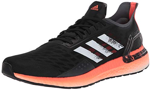 adidas Men's Ultraboost Personal Best Running Shoe, Black/White/Signal Coral, 8 M US