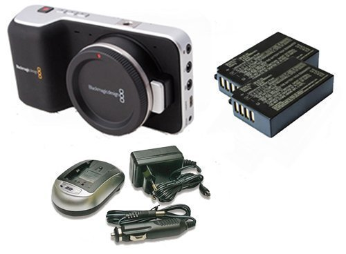 Kit Blackmagic Design Cinema Pocket Camera con 2 original batería Blackmagic + 1 cargador Universal UniPal Plus