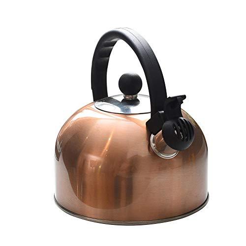 Wasserkocher Ofenkessel Mit Pfeif Funktion - 2,5L Teekessel Mit Pfeife,Teekanne In Lebensmittelqualität Mit Hitzebeständigem Griff Für Induktionsherde