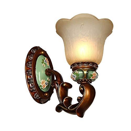 XZJJZ Wandleuchte Industrie Vintage Wandleuchte milchig weißes Glas Lampenschirm Messing Wandleuchte Wandleuchte Leuchte for Schlafzimmer Flur Wohnzimmer (1 Licht)