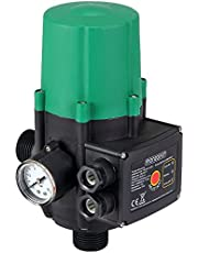Monzana Interruptor de presión de bomba de agua Presostato automático Controlador sin cable Vol 60 a 160 L x min