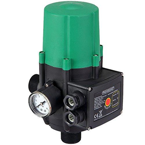 Monzana® Pumpensteuerung mit Baranzeige Druckwächter Druckschalter Modell ohne Kabel 10 bar überwacht den Wasserdruck automatisches Ein- und Ausschalten