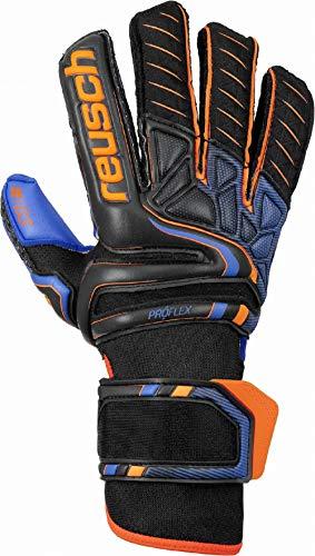 Reusch Attrakt Pro G3 Guantes de Portero, Hombre, Negro/Naranja/Azul Oscuro, 11