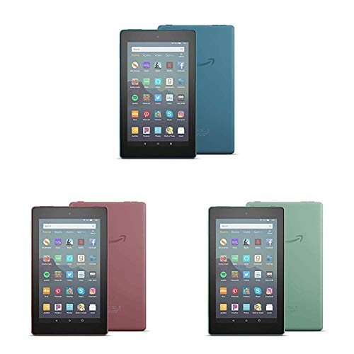 "All-New Fire 7 Tablet 3-pack (7"" display, 16 GB) - Blue/Plum/Sage"