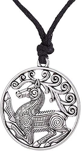 AMOZ Collares, Joyas, Utilizados para el Collar Colgante de Vikingo Nórdico Odin  s Steed Viking Steampunk Colgante Collares de Caballo Escandinavo Joyería de Tendencia