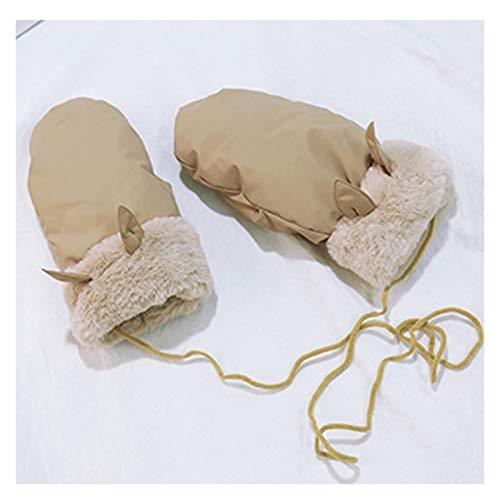 SUNRONG Guantes Versión Coreana Otoño Invierno más Terciopelo Grueso cálido Guantes Lindos Montando Viento frío Guantes prácticos Guantes de Punto (Color : B)