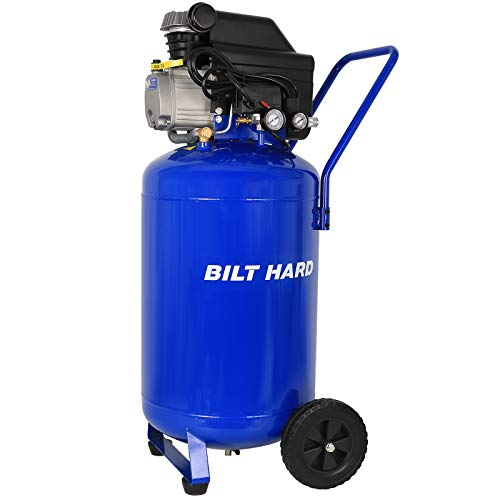 BILT HARD Air Compressor, 21 Gallon 2.5HP 125 PSI, 4.5CFM@90PSI, Max Speed 3400 RPM, Oil Lube, Portable with Large Wheels