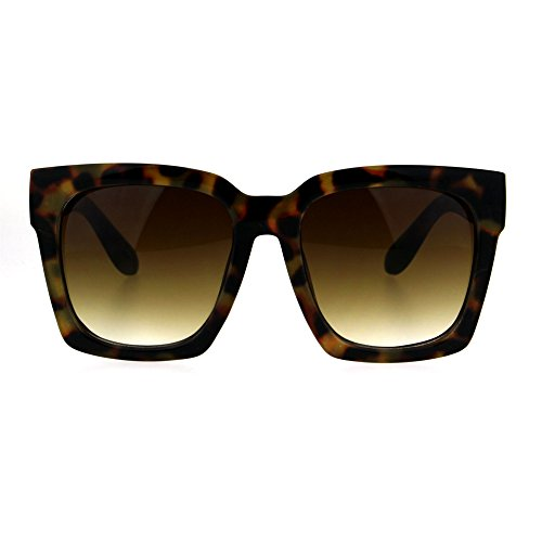 SUPER Oversized Square Sunglasses Womens Modern Hipster, Tortoise, Size No Size