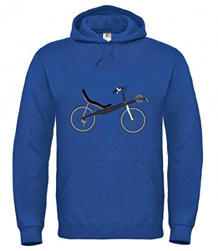 Druckerlebnis24 Kapuzenpullover Fahrrad- LIEGERAD- Chaise Lounge- Transport- Fahrzeug- Radfahren für Herren- Damen- Kinder Sweatshirt Hoodie