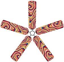Fan Blade Designs Swirling Rainbow Ceiling Fan Blade Covers
