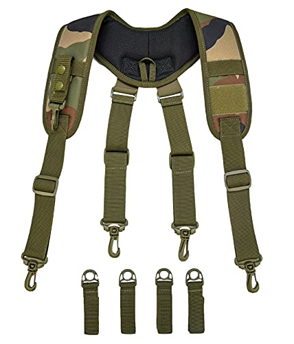Tactical Suspenders Duty Belt Harness Padded Adjustable Tool Belt...