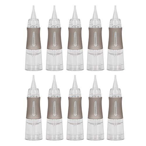 Agujas de tatuaje, 10 piezas de agujas de cartucho de tatuaje desechables Kit de máquina de tatuaje semipermanente de cejas Suministros de tatuaje para pluma de máquina de tatuaje(R ‑ 0.18)