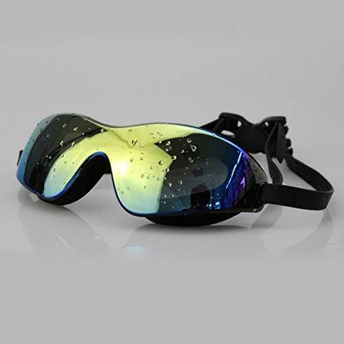Viner Heren Dames Waterdicht Anti-UV Googles Zwembril Anti-mist Zwemkleding Kleurrijk Zwemmen Grote bril Unisex Zwemmen, zwart